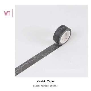 🚚 [IN] [WT] Black Marble Washi Tape