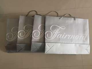 Fairmont Hotel Paperbags
