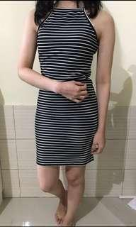 Stripe dress fit to body