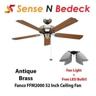 Fanco FFM2000 52 Inch Ceiling with Fan Lights (4 Bulbs)