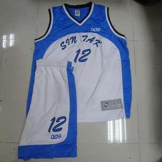 佛教善德英文中學 籃球校隊 Dos 藍白色 球衣褲 波衫褲 BSTC basketball jersey set
