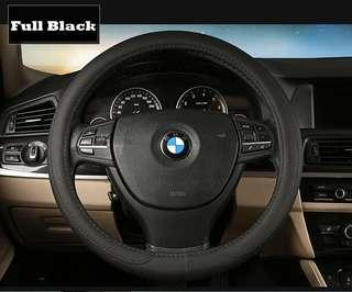 Lowest Offer Price! Smooth leather texture car steering wheel cover!