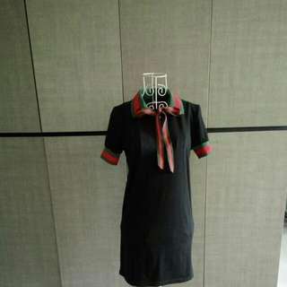 Collared Polo-shirt dress