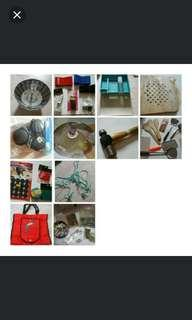 🚚 ALL WHOLE LOT - Kitchen - cooking pot hammer laundry door latch utencils laddle bags screw tray