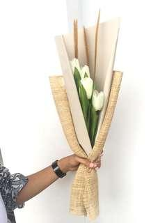 Buket bunga artificial with dried flower