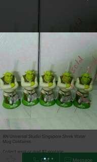 🚚 BN Universal Studio Singapore Shrek Water Mug Container.