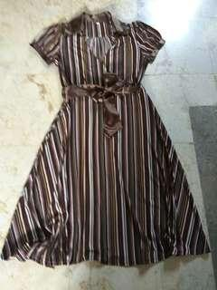 MIDIDRESS STRIPES