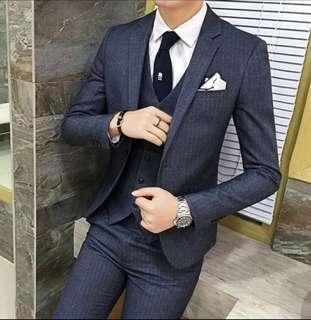 Three piece Suit 三件頭西裝 (不連恤衫)