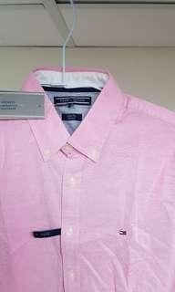 🚚 全新真品Tommy slim fit 襯衫S號,粉色