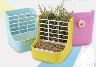 Brand new hay and food rack box perfect for rabbit/chinchilla/guinea pig.