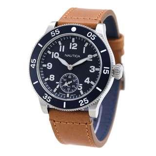 Nautica Mens Brown Leather NAPHST001