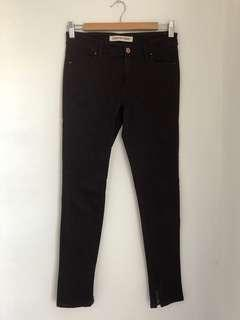 Country Rd size 4 (8) jeans wine burgundy plum