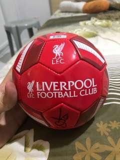 Signed Liverpool Mini Ball Gary McAllister