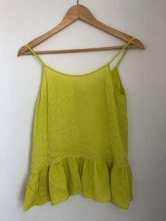 Witchery top neon yellow fluoro