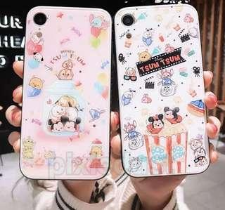 tsumtsum tempered glass couple phone casing