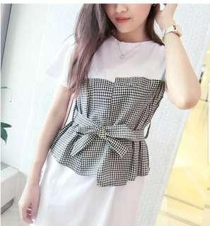 Checkered casual dress #fashion #casual #ladies