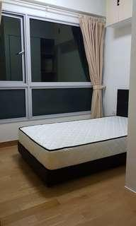 🚚 Super single bed frame and mattress for sale