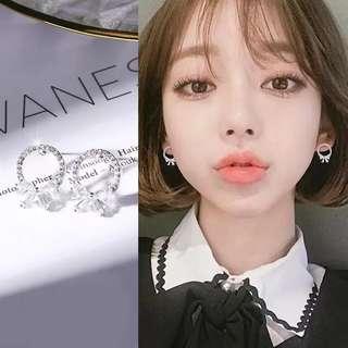 <free pos 3 pairs & above> Korean Design 925 Silver Ear Stud Round Earrings