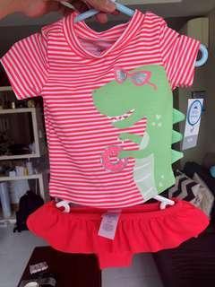🚚 Carter's baby swim suit 6 month dinosaur UPF50+ swimwear
