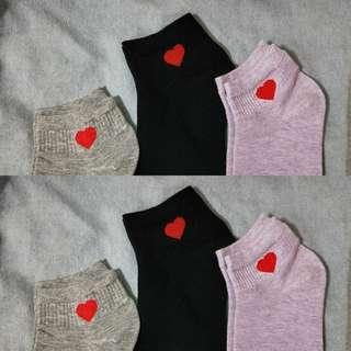 Korean Ulzzang Heart Socks