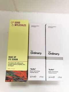 THE ORDINARY Buffet and GOOD MOLECULES Eye Serum
