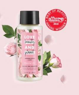 Love Beauty & Planet Vegan Shampoo with murumuru butter & rose aroma