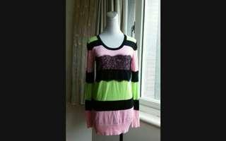 🚚 MOMA 多彩蕾絲長版針織衫