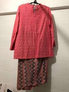 XQZit Pink Modern Baju Kurung, L