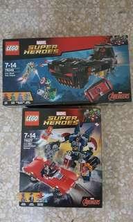 Lego iron man set combo