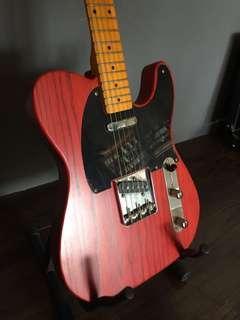 Custom Made Telecaster Red Guitar