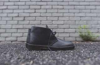 Clark's Desert Boots Beeswax Leather Black