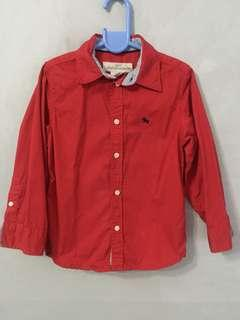 H&M red polo 4-5y