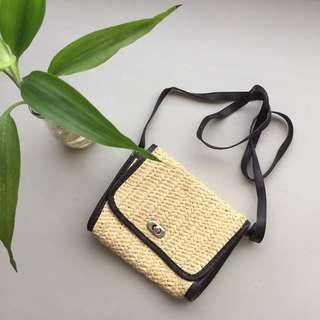 Weaved Summer Boho Chic Sling Bag Crossbody Sling