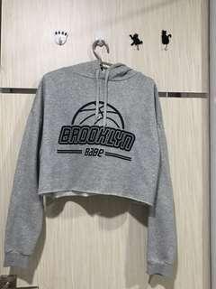Hoodie Crop Grey H&m