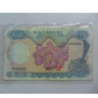 Singapore Orchid Series $50 Banknote 892897 Sign GKS