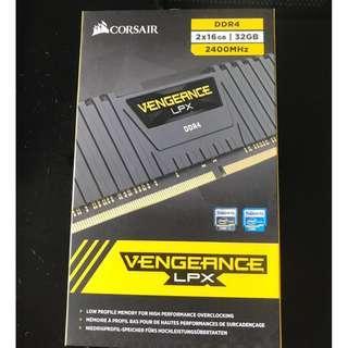 Corsair CS-CMK32GX4M2Z240016 32GB Kit (2x16GB) 2400MHz DDR4 Vengeance LPX Ryzen Black C16 Brand new