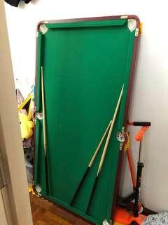 桌球枱 美式 (標準1.6米可摺疊款)