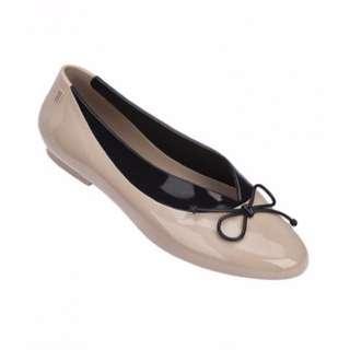 🚚 BNIB Melissa Formal Just Dance Nude Ribbon Flats Shoes