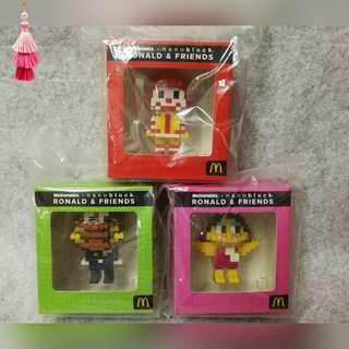 McDonald's Nanoblock Ronald & Friends
