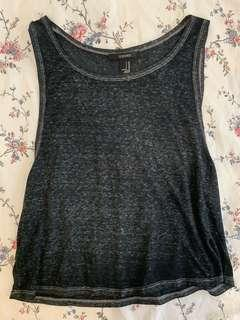 🚚 Forever 21 Grey Muscle Tank/Sleeveless Tank Top