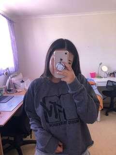 MTV cropped sweatshirt