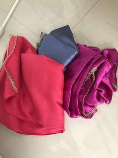 🚚 Preloved Satin shawls