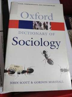 Dictionay of Sociology
