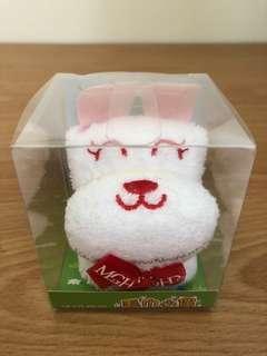 🚚 兔兔 手帕巾 立體 耳朵 粉 白