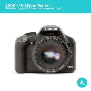 [Camera Rental] Canon 500D with Lenses
