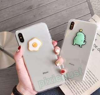 egg and dinosaur phone casing