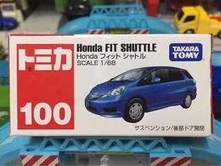 Tomica 車仔 絕版 No.100 Honda Fit Shuttle