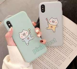 piggy couple phone casing
