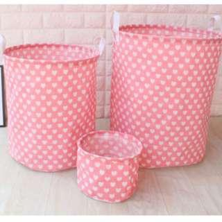 NEW ARRIVAL Pink Love Laundry Basket