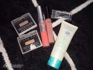 authentic lipgloss & new lipcream from lancome & new mary kay eyeshadow